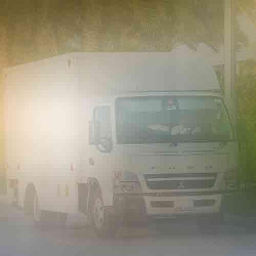Van in a parking
