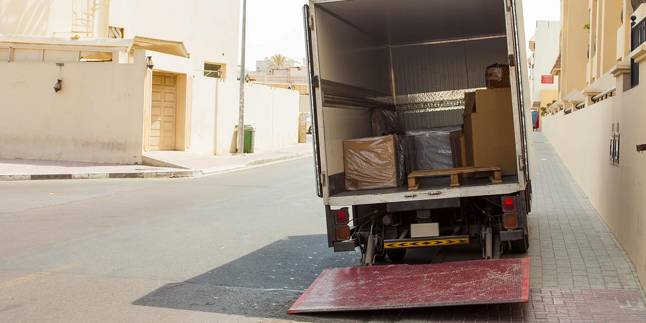 Van parked in UAE streets